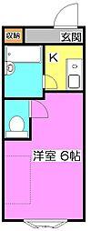 埼玉県所沢市中新井3丁目の賃貸マンションの間取り