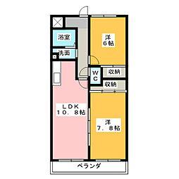 ユイマールT&T[3階]の間取り