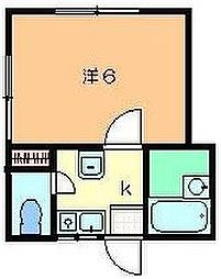 東京都板橋区赤塚7丁目の賃貸アパートの間取り