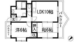 エミネンス丸の内B棟[2階]の間取り