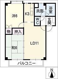 コートピア[2階]の間取り