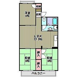 サンハイツ南 A[2階]の間取り