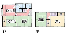 [一戸建] 兵庫県姫路市御立西 の賃貸【兵庫県 / 姫路市】の間取り