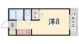ジュネス船橋[203号室]の間取り