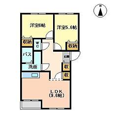 コンフォース・スバル[2階]の間取り