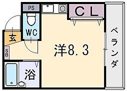 サンライフ小阪本町[3階]の間取り