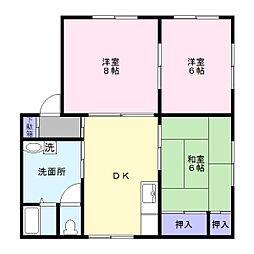 ガーデンハウス2[2階]の間取り