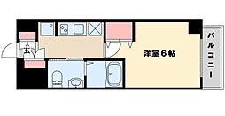 エステムコート新大阪VIIIレヴォリス 3階1Kの間取り