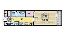 ミッドウエスト小阪[2階]の間取り
