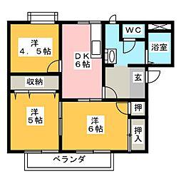 フレグランスイヌマル A棟[2階]の間取り