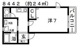 STAGE・I(ステージワン)[102号室号室]の間取り