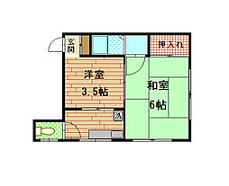山兼荘[3階]の間取り