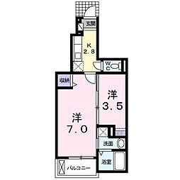 サンクレスティー[1階]の間取り