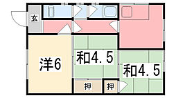 寺島荘[201号室]の間取り