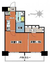福岡県福岡市西区姪の浜4丁目の賃貸マンションの間取り