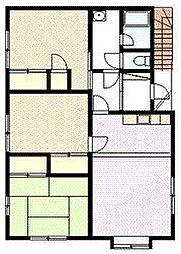 セミアードーム 2階3LDKの間取り