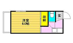 加藤荘[201号室]の間取り