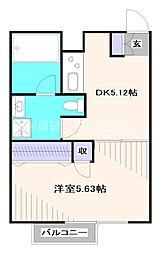 西武新宿線 田無駅 徒歩5分の賃貸マンション 1階1DKの間取り