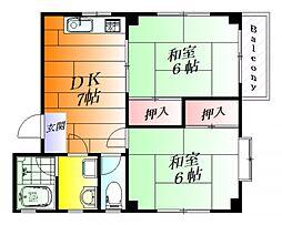 浜野マンション[1階]の間取り