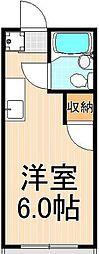 ツジハイムII[202号室]の間取り