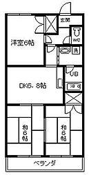 ヴィラージュヨコヤマ[1階]の間取り