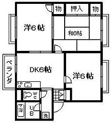 大阪府泉南市新家の賃貸アパートの間取り