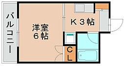 マリンハイツ波多江[4階]の間取り