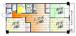 エクセレント千里丘[2階]の間取り