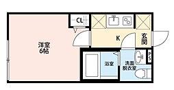 東京都北区赤羽西4丁目の賃貸アパートの間取り