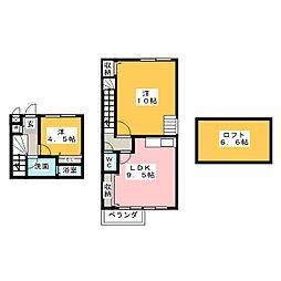 La.Zona rosa[2階]の間取り