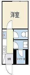 シャレーハイツ[1階]の間取り
