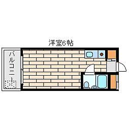 ラレジダンスド・エリール[5階]の間取り