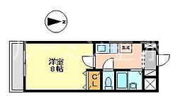 兵庫県小野市下来住町の賃貸マンションの間取り