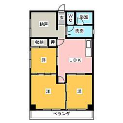 宮本町ハイツB[2階]の間取り