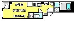 JR総武線 千葉駅 徒歩5分の賃貸マンション 5階1Kの間取り