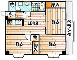 ハイツ赤坂II[1階]の間取り
