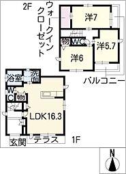 [一戸建] 愛知県名古屋市千種区光が丘2丁目 の賃貸【/】の間取り