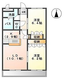 ハインスハイムV[1階]の間取り