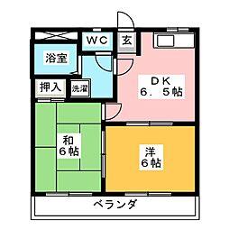 サングリーン奈良[3階]の間取り