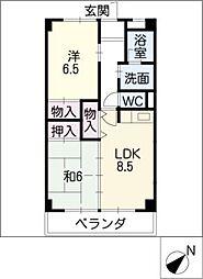 アネックス神の倉[2階]の間取り