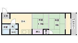 鶴見マンションヨシモト[405号室]の間取り