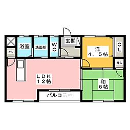 シャトー今井[1階]の間取り