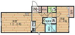 ドエル梅香5[1階]の間取り
