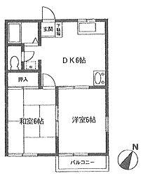 クリスタルハウス入曽[1階]の間取り