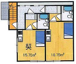 平塚ハイツ[202号室]の間取り