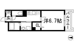 グランリーオ北伊丹2[2階]の間取り