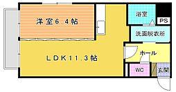 大八ビル[603号室]の間取り