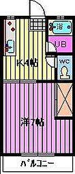 片山コーポラス[101号室]の間取り