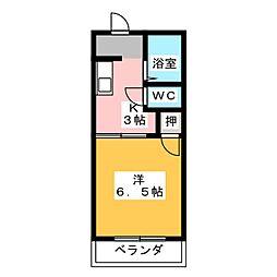 サニーコート高坂[1階]の間取り