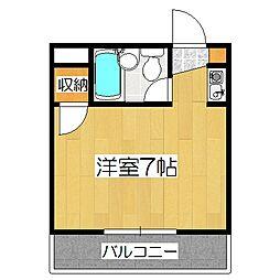 プレアール堂田(旧:レジデンス堂田)[2階]の間取り